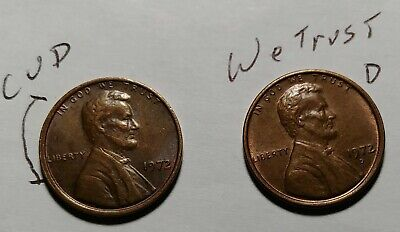1 -1972 D Lincoln Cent Double Die Obverse DDO  1 - 1972, RRR Look At Pictures!