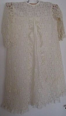 Vintage Kinswear Christening Gown dress baby baptism blessing 6mths 8kg lace