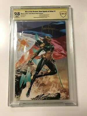War of the Realms New Agents of Atlas #1 Virgin Variant CBCS 9.8 SS 1st Wave