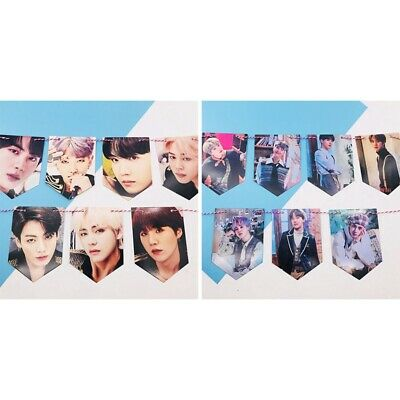 7PCS Kpop BTS Love Yourself Speak Yourself Hanging Poster Banners Paper Flags