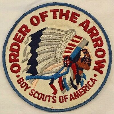 """1970s ORDER OF THE ARROW 5 3/4"""" BACK JACKET PATCH Boy Scouts of America"""