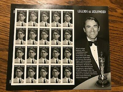 Scott #4526 Gregory Peck Us Sheet Forever Mnh Legends Of Hollywood 2011 Pane