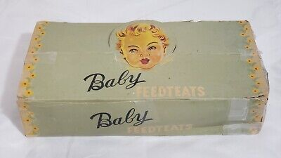 31 Vtg Baby Feedteats Store Display Box Dummy Pacifiers Squeak Toy Feed Teats