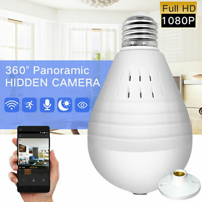 HD 1080P Wifi Security Spy Cameras 360 Degree Panoramic Fishye Home Baby Monitor