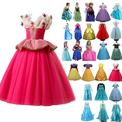 Girls Kid Frozen Snow White Princess Cosplay Costume Party Dress Dress Ball Gown