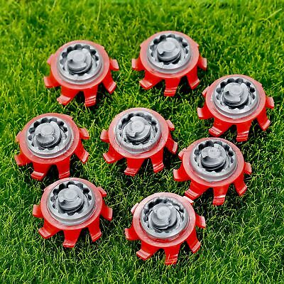 14Pcs Red Gray Golf Shoe Spikes Smooth Polished Replacement Eliminate Spikemarks