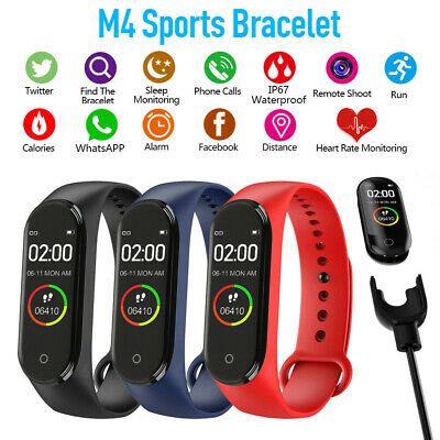 For Xiaomi Mi4 Band Heart Rate Smart Watch Wristband Fitness OLED Global Version