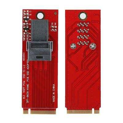 MiniSAS NVMe M.2 to U.2 SFF-8639 NGFF SSD to PCI-E Adapter Riser Card Converter