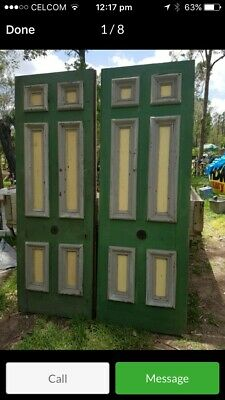 1880's Rare old entrance french cedar doors from Brisbane Bank