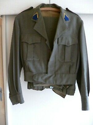 Belgian Army Belgisch Leger Armée Belge Battle Dress complet 1962 Exceptionnel