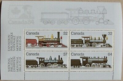 #1039a CANADA MNH Souvenir Sheet of 4: Canadian Locomotives - 2