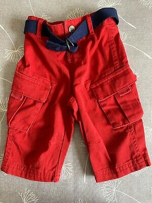 Baby Boys Red Ralp Lauren Trousers Age 6 Months Immaculate Condition