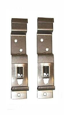 2 x Trailer number plate clips or holders spring loaded stainless steel Pt...