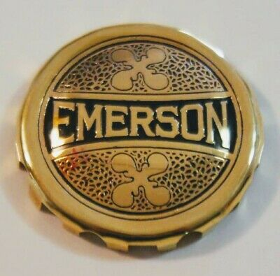 Emersom - Brass Fan Cage Badge, Reproduction