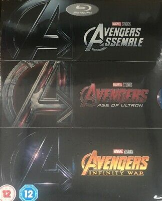AVENGERS 3 MOVIE COLLECTION 2018 Blu Ray! Inc Infinity War Sealed. Fast Dispatch