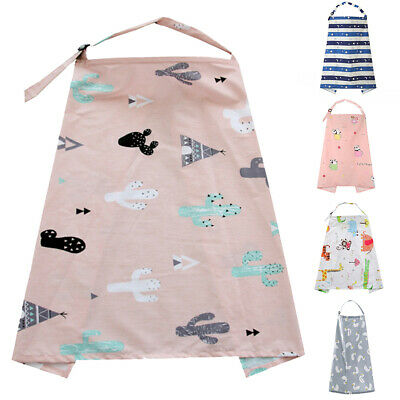 1*Floral Reusable Breastfeeding Nursing Cover Up Baby/Infant Udder Blanket Apron