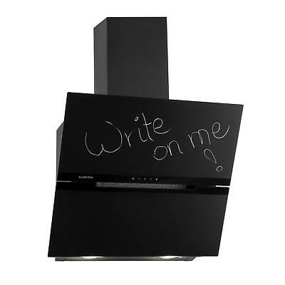 Hotte Cuisine Aspirante Extraction Blackboard Inscriptible Craie 620 m³/h Noir