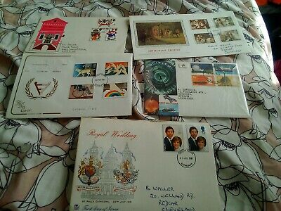 COLLECTION OF 5 BRITISH GB FIRST DAY COVERS FDCs -