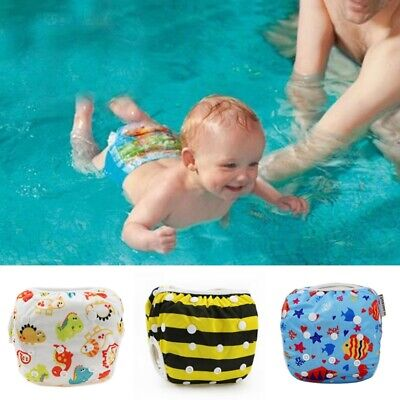 Toddler Boy Girl Swim Nappy Adjustable Reusable Pant Diaper Baby Swimmer AU