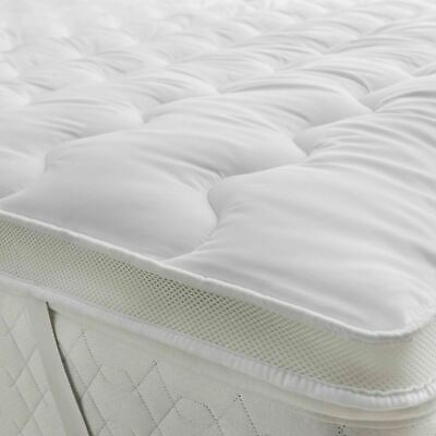 5cm Microfiber Mattress Topper Hollow Fiber Filling Anti Allergic All Sizes