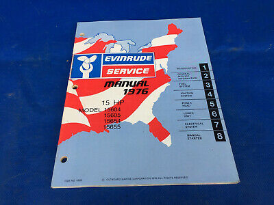 1976 Evinrude Johnson 15hp Outboard Printed Factory OEM Service Manual