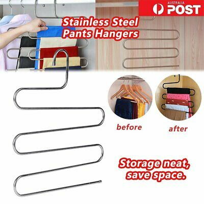 layer Pants Hangers Trousers S Type 5 Layer Holder Scarf Tie Towel Rack Multi EA