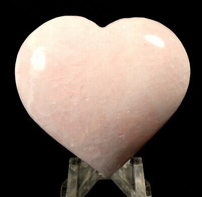 "2.1"" 425ct Pink Mangano Calcite Heart Natural Gemstone Crystal Mineral from Peru"