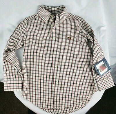 American Living Boys Long Sleeve Shirt Plaid NWT Button Up 4T Toddler MSRP $24