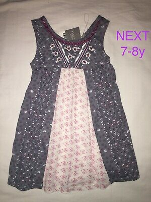 BNWT NEXT design tunic top, age 7 Summer party