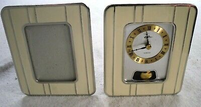 Vintage 1970-80s METAMEC Quartz Picture Frame Clock & Matching Frame, Restored.