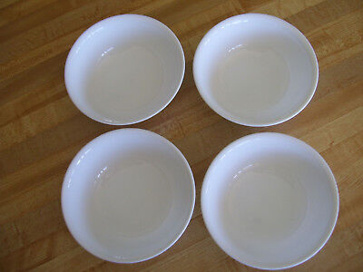 """4 Corelle Winter Frost White Soup Cereal Bowls 6 1/4"""""""
