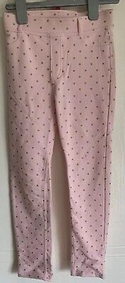 Girls H&M Pink & Gold Star Trousers / Jeggins Age 8-9