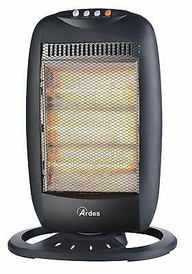 ARDES AR454B INDOOR 1200 W BLACK HALOGEN ELECTRIC SPACE HEATER ELECTRIC (7n7)