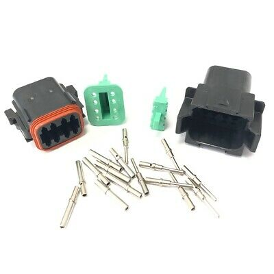 Deutsch DT Series 8 Way Connector Kit With Terminals - Male, Female Or Both
