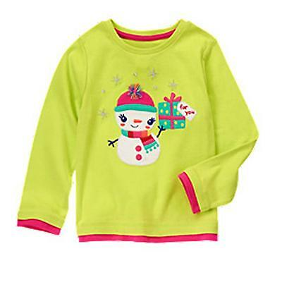 Gymboree 2T Color Happy Snowman Long Sleeve Tee Top  Nwt Free Ship Usa