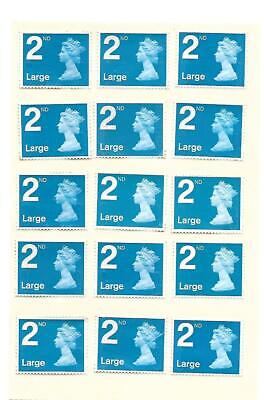 50 x Large Genuine 2nd Class Second Class Stamps Off Paper Unfranked Easy Peel