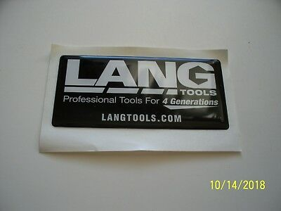 "ORIGINAL   2D   DECALS  ""  LANG  TOOLS  "" 3.75 "" x  1.75 """