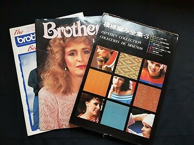 Bk266 Brother Knitting Machine Electronic Pattern Books Beginners Lot Of 7