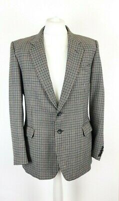 """St Michael Mens Pure Wool Houndstooth Tweed Blazer Sports Jacket Size 42"""" M"""