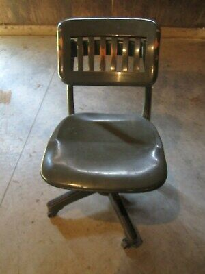 Vintage Sikes Secretary's Office Desk Swivel Task Chair Hardwood Construction