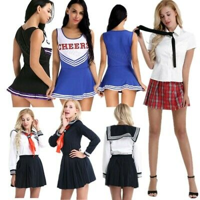 Women School Uniform Student Sailor Outfits Pleated Fancy Dress Cosplay Costumes