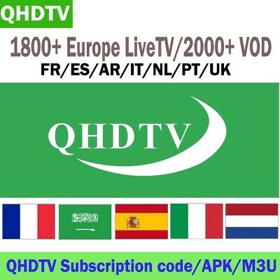 ONE YEAR QHDTV Best iptv Arabic plus VOD Android , Mag device