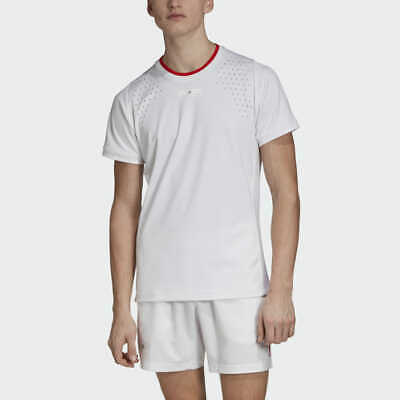 mens Adidas stella mccartney barricade tennis t shirt all sizes  white or red
