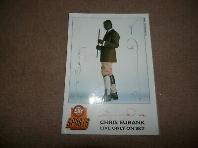 Chris Eubank Signed card Sky TV Simply The Best