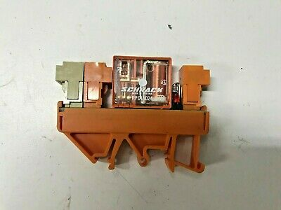 /< Schrack Model Weidmuller RP011024 Relay with Base
