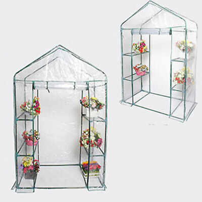 Outdoor Garden Greenhouse Plants Grow House Covers with Shelves 143×73×195 cm