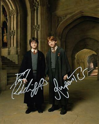 Daniel Radcliffe & Rupert Grint *Harry Potter* Signed 8x10 Photo COA