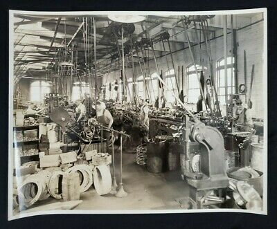 Antique Vintage Original Chain Fabrication Department Photo Early 20Th Century