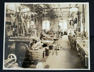 Antique Vintage Original Metal Finishing Department Photo Early 20Th Century