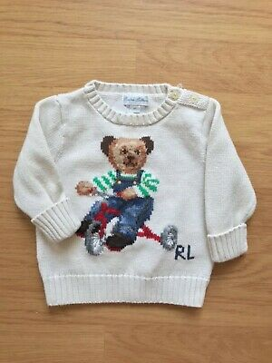 Gorgeous Genuine RALPH LAUREN Baby Boy Bear Pattern Jumper-Sweater 6M BNWT